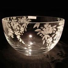 Cherry Blossom Crystal Bowl   Evergreen Crystal   ECbowl