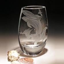 Dolphin Kyoto Crystal Vase