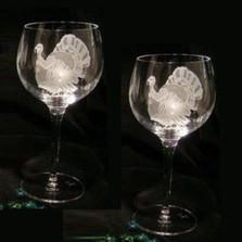 Turkey Crystal 13 oz Wine Glass Set of 2