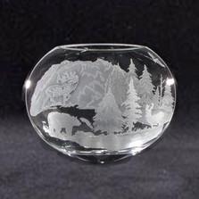 Bear Elk Crystal Neo Oval Vase