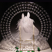 Arabian Horse Charger Crystal Plate
