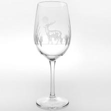 Deer All Purpose Wine Glass Set of 4