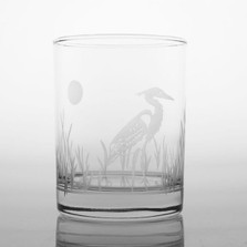 Heron Double Old Fashion Drink Glass Set of 4