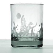Duck Double Old Fashion Drink Glass Set of 4