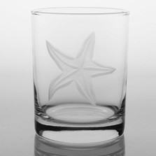 Starfish Double Old Fashioned Glass Set of 4