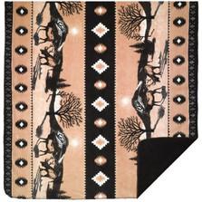 Elk Chocolate Throw Blanket | Denali | DHC16120772