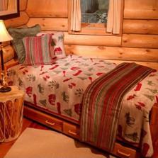 Moose Camp Twin Bedspread