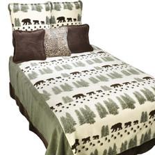 Pearl Bear King Bedspread