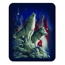 Wolf Blanket Patriotic Wolves