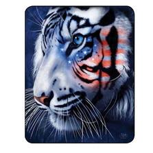 White Tiger Blanket White Stripes Patriotic Tiger