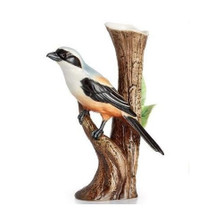 Long Tailed Shrike Bird Porcelain Vase | FZ02402 | Franz Porcelain Collection