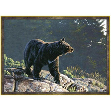 Black Bear Area Rug Evening Calm