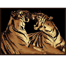 Double Tiger Area Rug