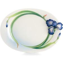 Eloquent Iris Flower Dessert Plate | FZ02494