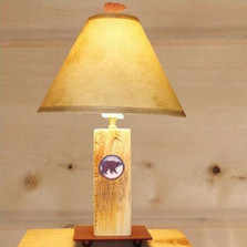 Bear Wood Table Lamp
