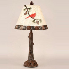 Cardinal Pine Branch Table Lamp