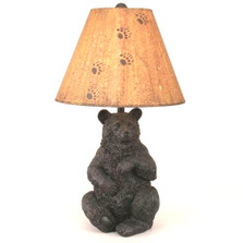 Sitting Black Bear Lamp