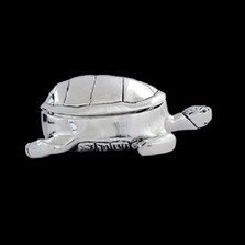 Turtle Silver Plated Jewelry Box   U305