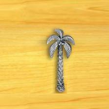 Palm Tree Drawer Pull   Satin Pewter