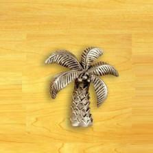 Palm Tree Knob   Satin Pewter