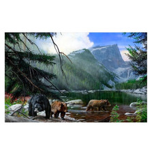 "Bear Print ""Foraging the Shallows"""