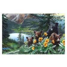 "Bear Print ""Basking in the Balsamroot"""
