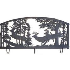 Deer Metal Wall Art Coat Rack