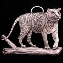 Tiger Pewter Ornament