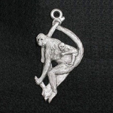 Spider Monkey Pewter Ornament