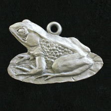 Frog Pewter Ornament