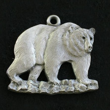 Grizzly Bear Pewter Ornament