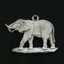 Elephant Pewter Ornament