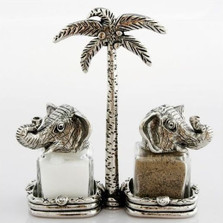 King Queen Elephant Salt Pepper Shakers