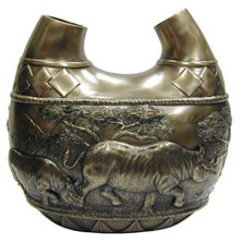 Rhino Safari Double Vase
