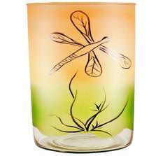 Dragonfly Art Glass Vase