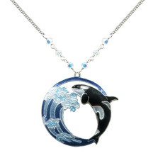 Hokusai Orca Wave Necklace | Nature Jewelry