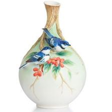 Cerulean Warblers/Coffee Tree Vase | FZ02877