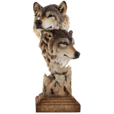 "Wolf Sculpture ""Kindred"" | Mill Creek Studios | 6567412071 -2"