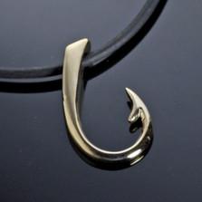 Hook Bronze Large Pendant Necklace | Nature Jewelry