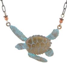 Sea Turtle Bronze Necklace | Nature Jewelry