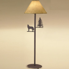 Wolf & Pine Tree Floor Lamp