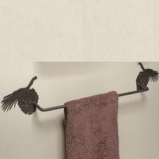 Pinecone Silhouette Towel Bar
