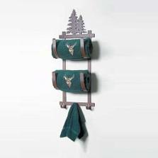 Pine Tree Double Towel Holder
