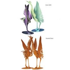 Crane Pair Steel Sculptures