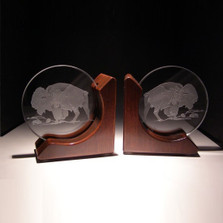 Buffalo Crystal Bookends