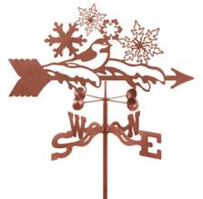Bird and Snowflakes Weathervane