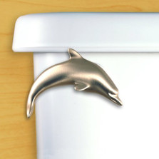 Dolphin Toilet Flush Handle | Satin Pewter