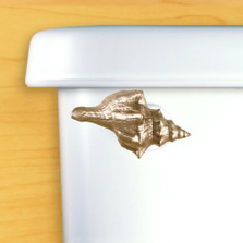 Seashell Toilet Flush Handle | Satin Pewter