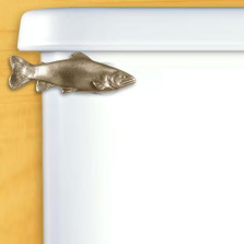 Trout Toilet Flush Handle | Satin Pewter
