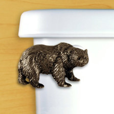 Bear Toilet Flush Handle | Satin Pewter